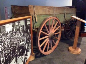 The Mule Wagon which transported Dr King's casket