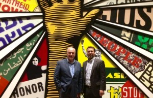 Tim Cooke with Center CEO Doug Shipman