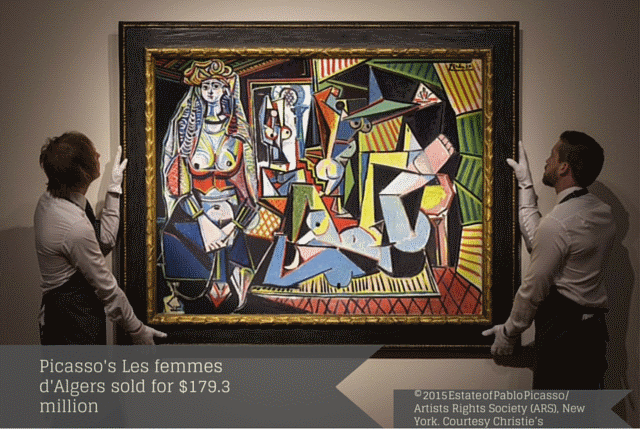 Picasso's Les femmes d'Algers sold for $179.3 million