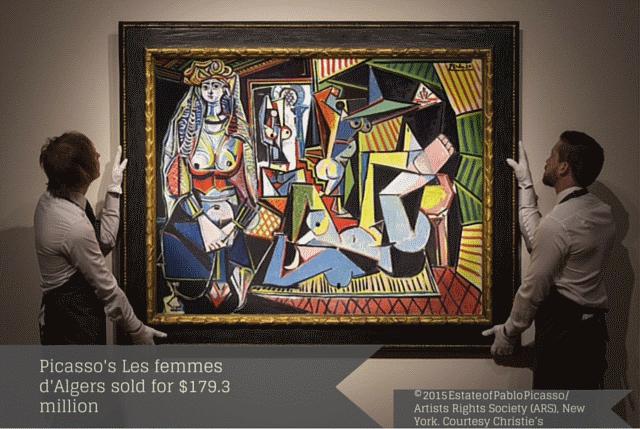 Picasso's Les femmes d'Algers sold for $179.3 million