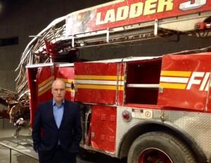 Tim Cooke at the 9/11 Memorial Museum in New York