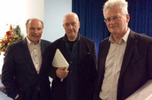Tim Cooke with Sean Scully and Sean Rainbird, Director, National Gallery of Ireland