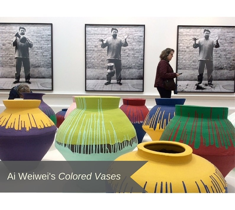 Ai Weiwei's Colored Vases
