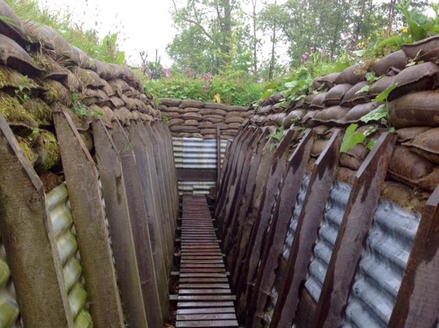 Trenches, Memorial Museum Passchendale, Belgium