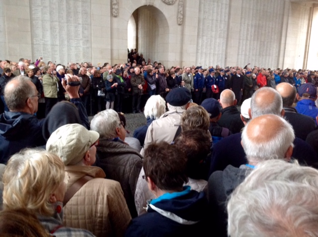 Nightly ceremony, Menin Gate, Ypres, Belgium
