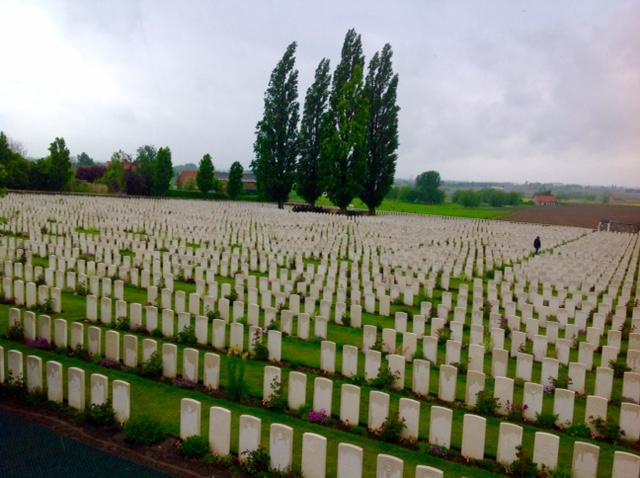 Tyne Cot Cemetery in Flanders, Belgium