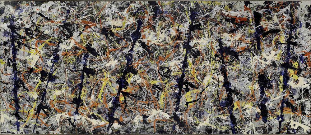 Pollock's Blue Poles Courtesy ARS,NY/DACS
