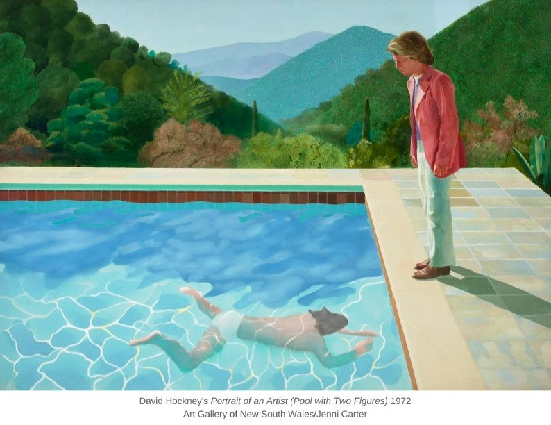 David Hockney's Portrait of an Artist (Pool with Two Figures) 1972