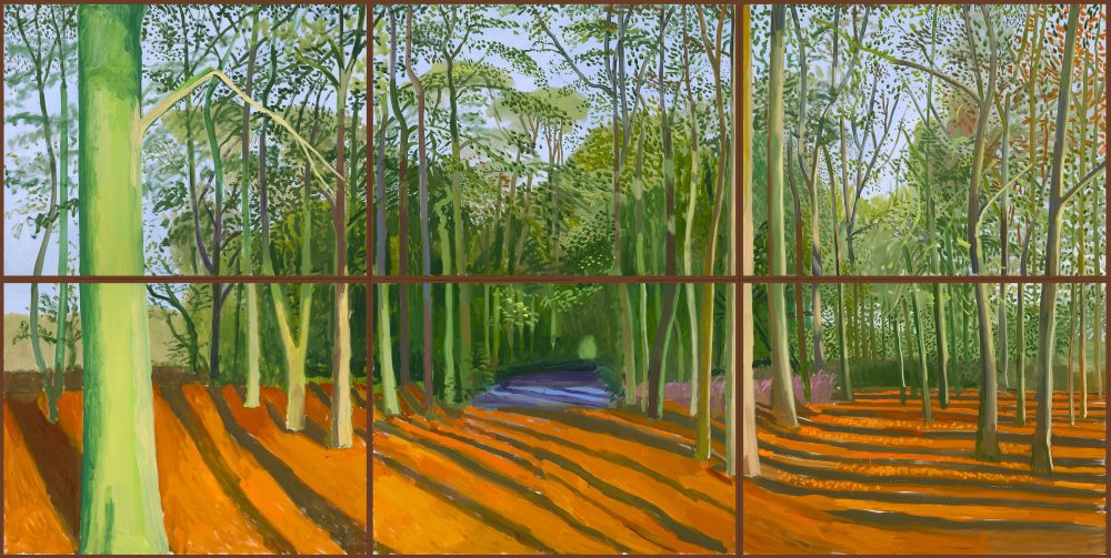 Woldgate Woods 2016 David Hockney Inc Richard Schmidt