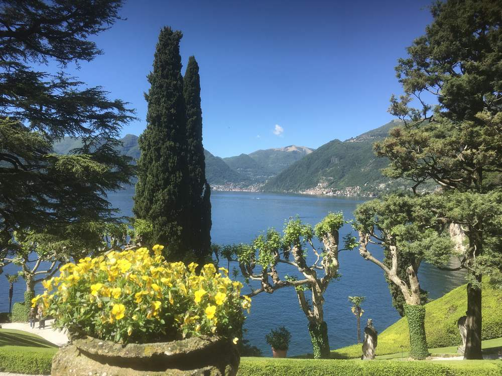 The gardens at Villa del Balbianello