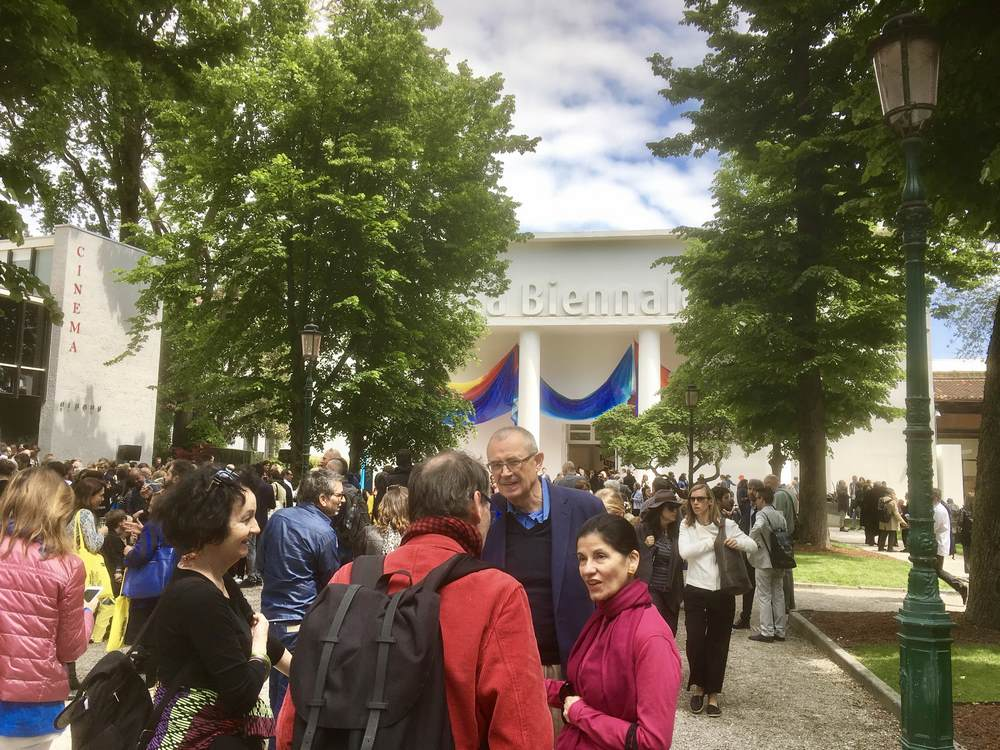 Art-lovers gather at the Giardini