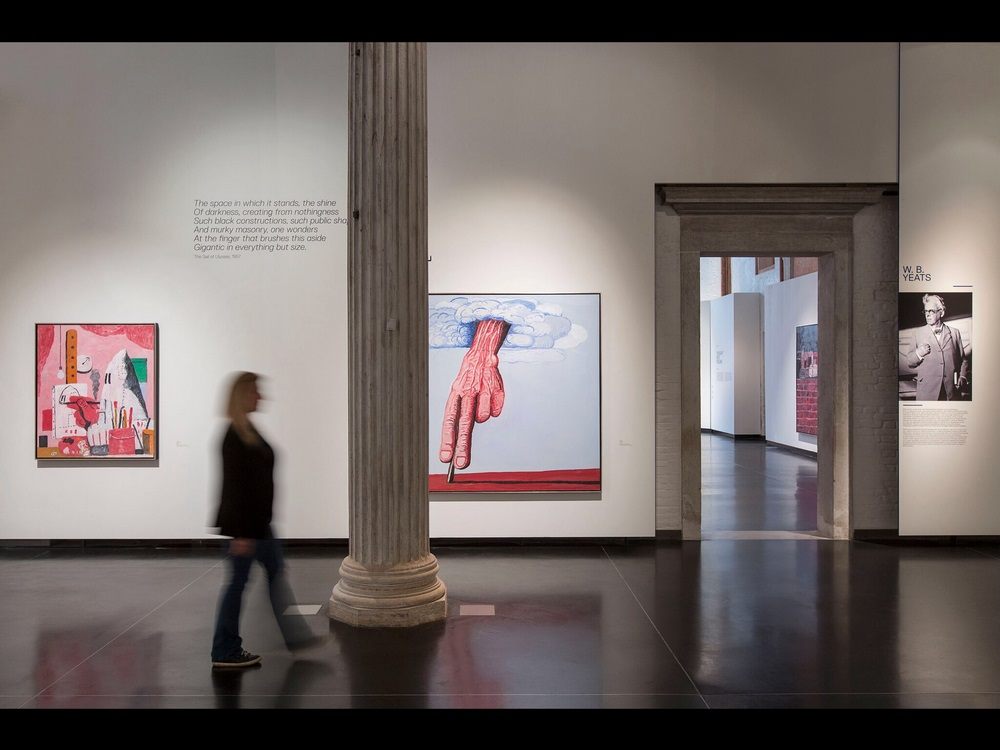 Installation view featuring The Line and W B Yeats - courtesy Lorenzo Palmieri