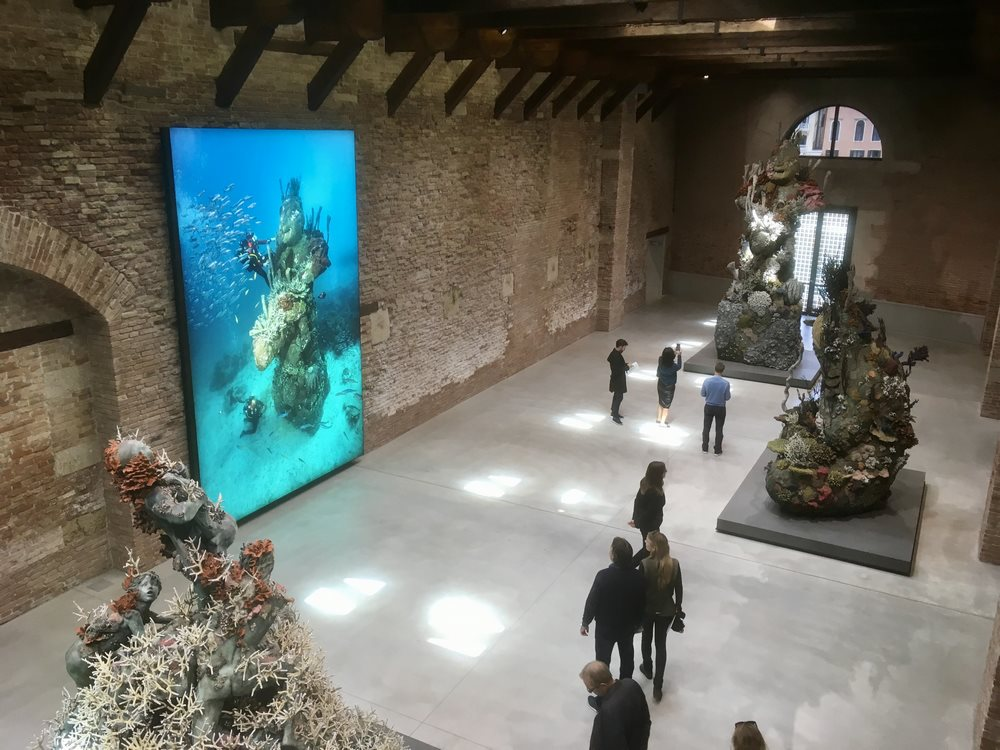One of the galleries in the Punta della Dogana