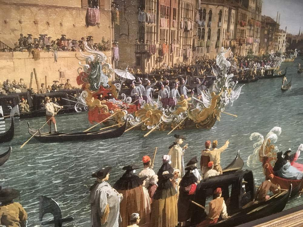 Detail from A Regatta on the Grand Canal