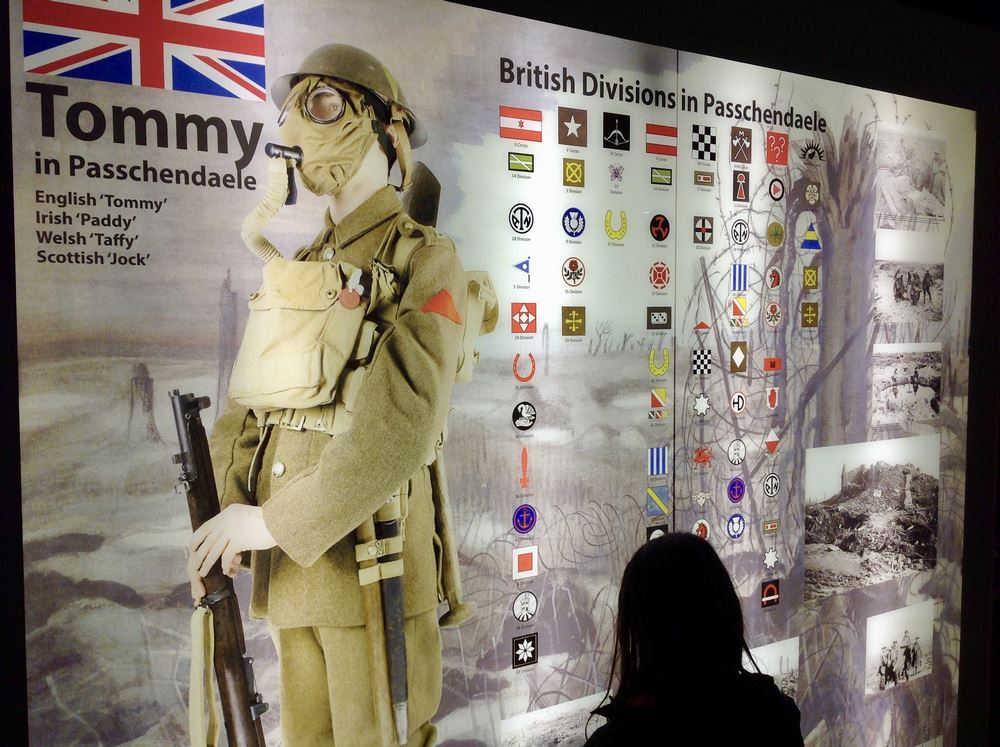 Individual panels explore the role of different nations in the battle