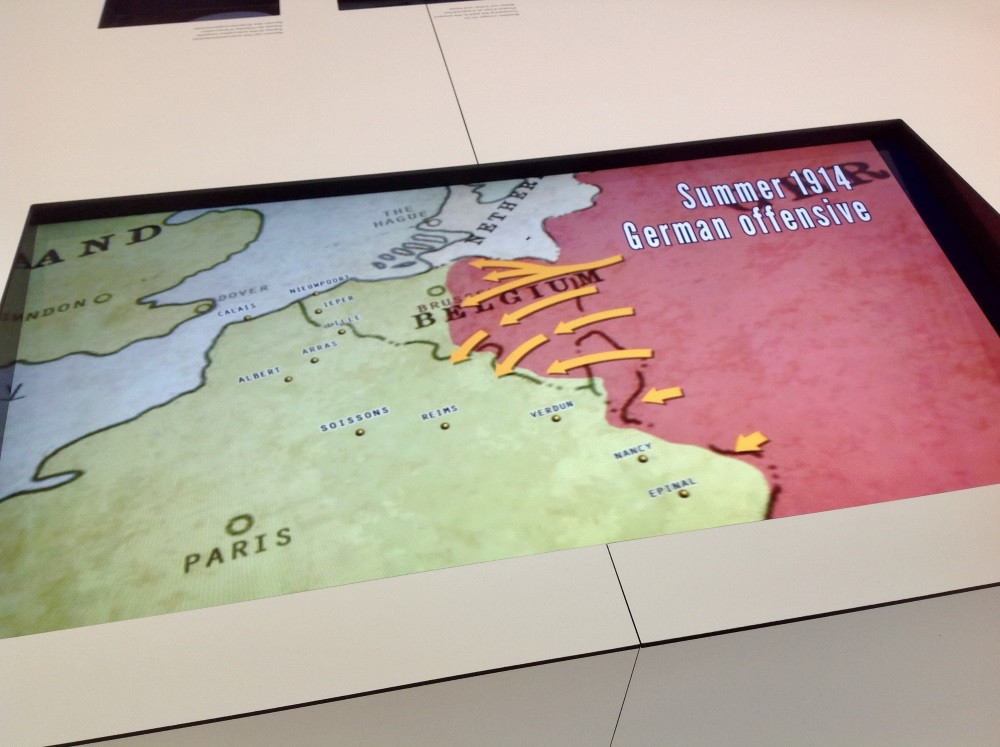 Interactive maps allow visitors to explore the changing battlefield