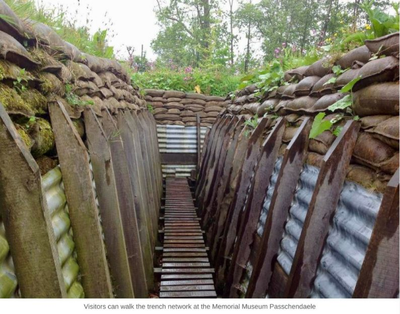 Visitors can walk the trench network at the Memorial Museum Passchendaele