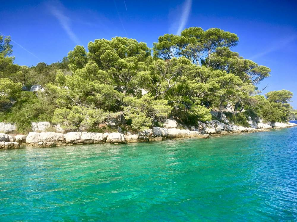 On St Mary's Island, Mljet