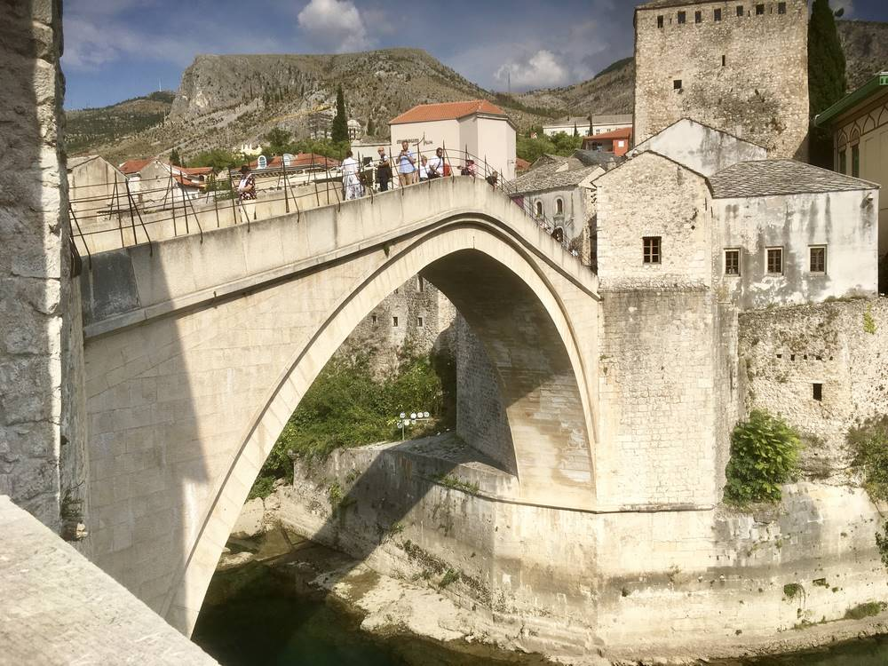 A million visitors a year now cross Mostar's Old Bridge